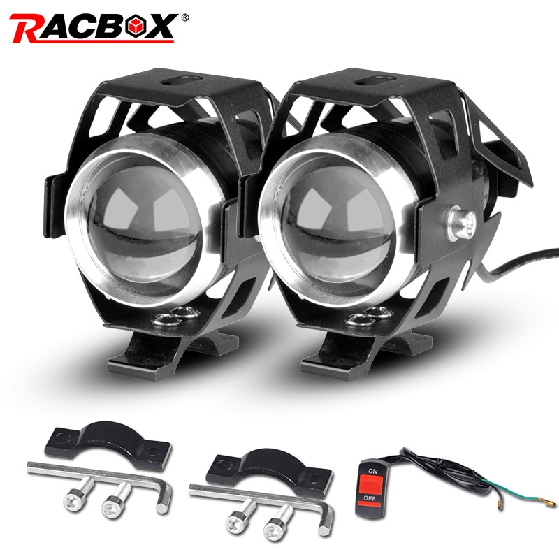 RACBOX 2 шт. U5 светодиодный светильник на голову для мотоцикла 12 В 24 в 3 000лм светодиодный фонарь для езды на велосипеде дневной ходовой светильн...