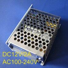 Hohe qualität 12V-2A-25W Schaltnetzteil 2A DC12V ,85-265AC eingang power suply 12Vdc Ausgang CE ROSH freies verschiffen 1 teile/los