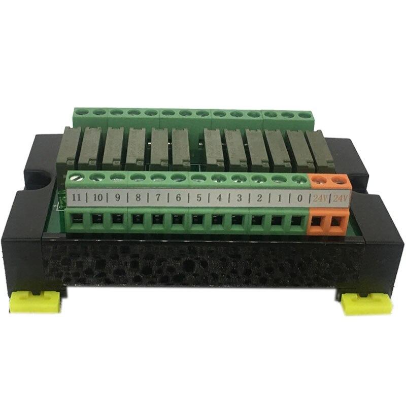 لوحة مكبر إشارة PLC 12 مسار, وحدة الترحيل PA1A ، الكتلة الطرفية الأصلية