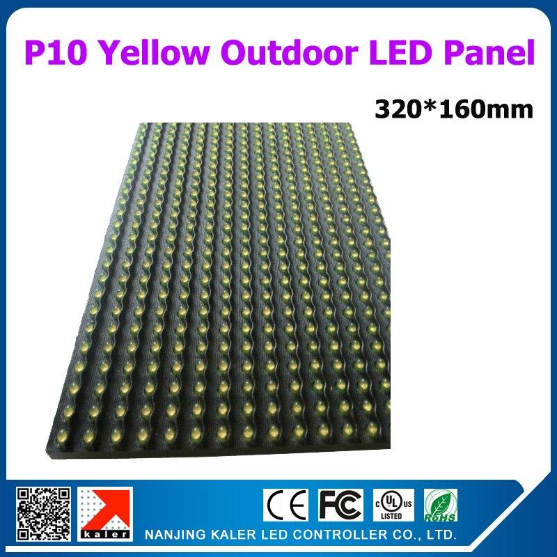 TEEHO 18 Uds un lote P10 color ámbar/amarillo Semi-exterior Módulo De Pantalla led 320*160mm 32*16 píxeles señal led amarillo de alto brillo