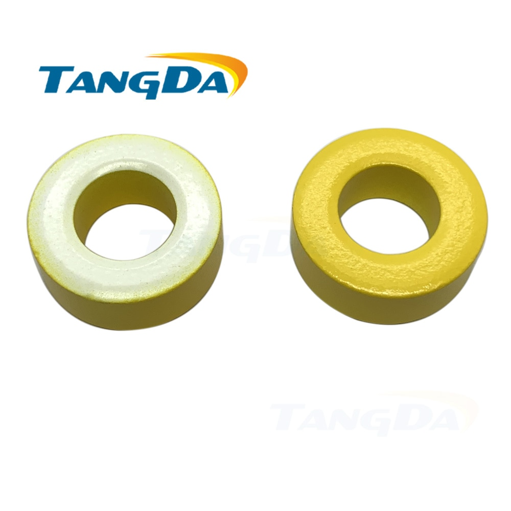 KT106-26 hierro polvo núcleo T106-26 OD * ID * HT 27*14*11,5mm 93nH/N2 75ue de hierro en polvo de ferrita Toroid núcleo toroidal Amarillo Blanco AG