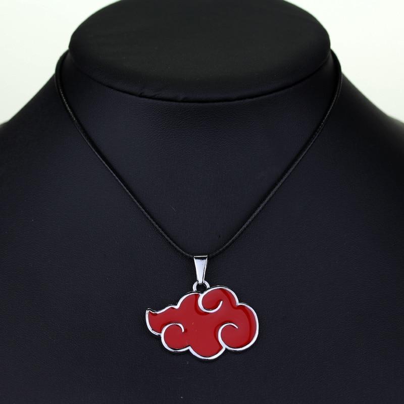 Аниме Наруто Акацуки Учиха Итачи аксессуары для косплея красное облако символ ювелирные изделия металлическая подвеска для ожерелья брелок для детей игрушки для взрослых