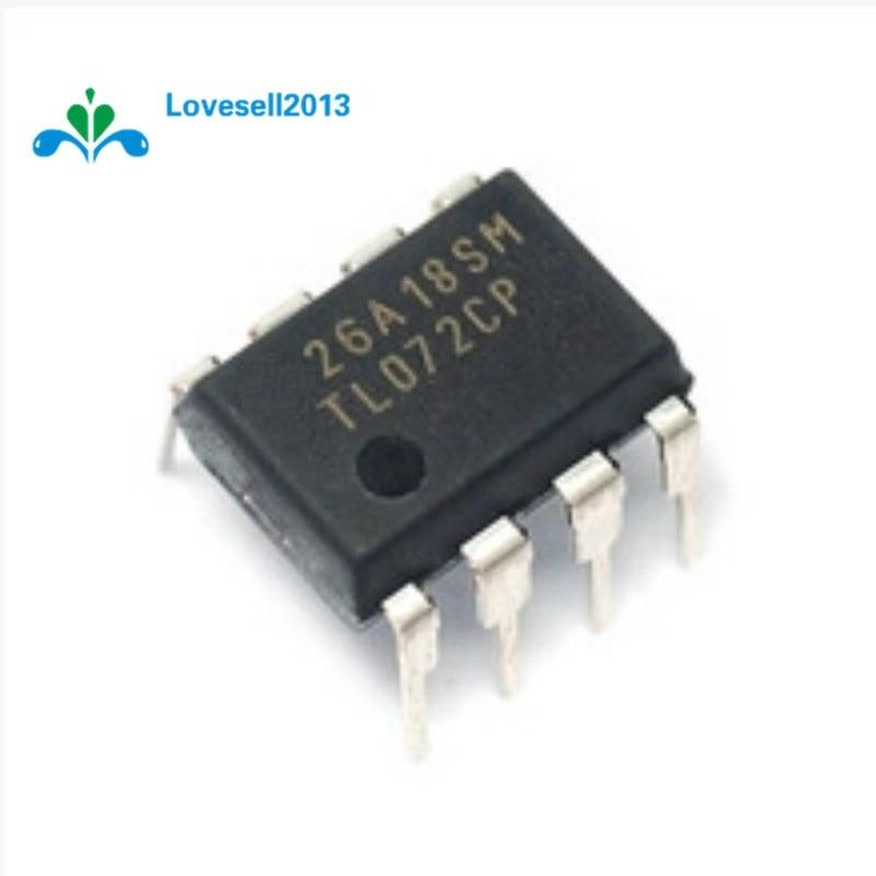 10 Uds TL072 TL072CP DIP-8 bajo ruido J-FET DUAL OP-AMP IC
