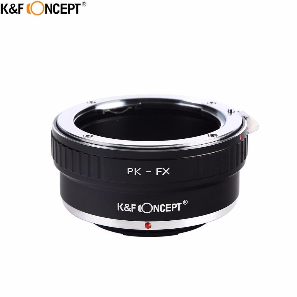 K&F CONCEPT PK-FX Camera Lens Adapter Ring For Pentax PK K Mount Lens to for Fujifilm X Mount Camera Fuji FX X-Pro1 X-E1 X-M1 lr fx leica r lens to fujifilm x pro1 mount adapter black