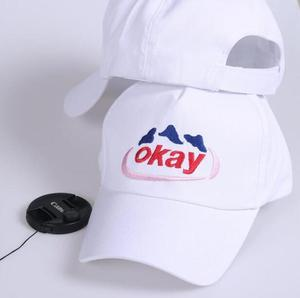 New Arrival Hats 2021 Korean Ulzzang Harajuku White Letters Snapback Caps For Women And Men Casual Hip Hop Baseball Cap Couple