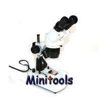 Mini Microscope binoculaire stéréo 20x-40x avec lampe de fond halogène pour réparation de microscope industriel
