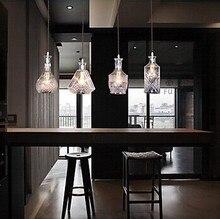 4 lumières, E27, bouteille Design américain Style Country pendentif LED lampe suspendue pour Bar artistique verre soufflant, ampoule incluse