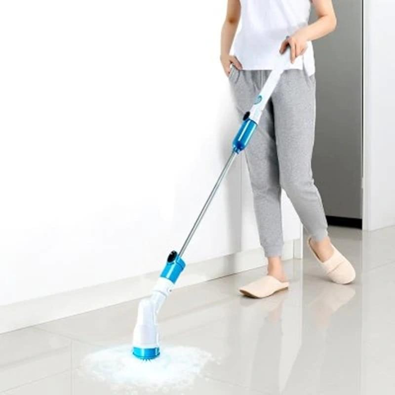 Azulejo banheira Escovas De Limpeza Ferramentas de Limpeza Doméstica Sem Fio Furacão Poder Lavadores Rotary scrubber Escova de Banho Elétrica