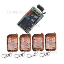220V 10A inalámbrico RF sistema conmutador de control remoto 1CH Interruptor 1 receptor y 4 transmisor lámpara de luz LED SMD A B A