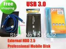 "New edition 2.5"" USB 3.0 HDD Case Hard Drive SATA External Enclosure Box high quality"