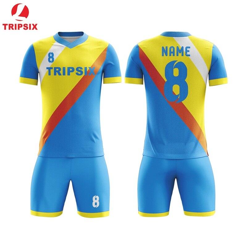 Uniformes de Football sublimés personnalisés uniformes de Football bon marché de la chine concevoir votre propre maillot de Football