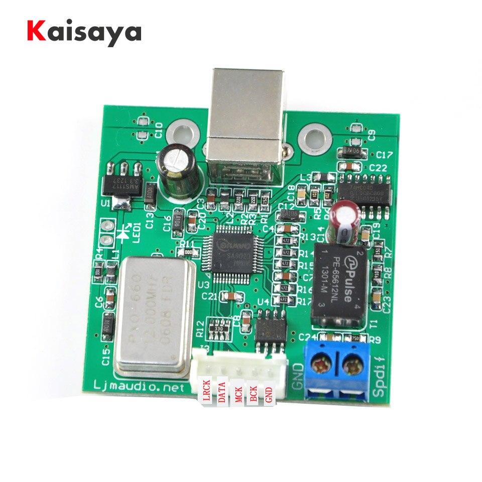 Procesador coaxial I2S TE7022 USB a SPDIF compatible con 24 bits 96K soporte de muestreo USB 2,0