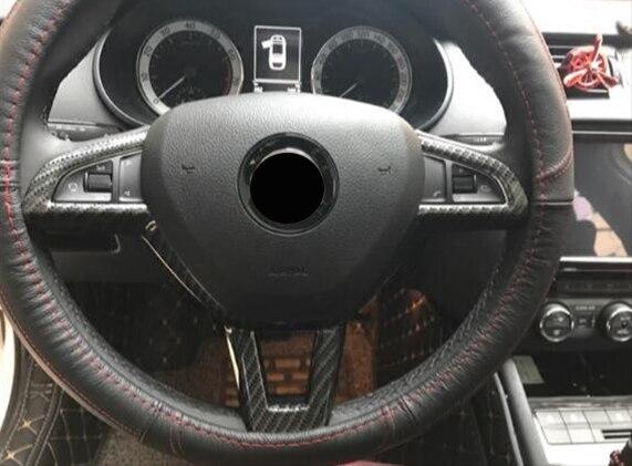 """ABS Chrome dla Skoda Octavia 2016 2017 2018 samochodów KIEROWNICA, proszę kliknąć na przycisk """" osłona ramy wykończenia Car Styling akcesoria samochodowe"""