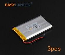 3pcs/Lot 3.7V 4000mAh Rechargeable li Polymer Li-ion Battery For DIY E-book bluetooth Vedio Game Tablet PC mobile  805080 085080
