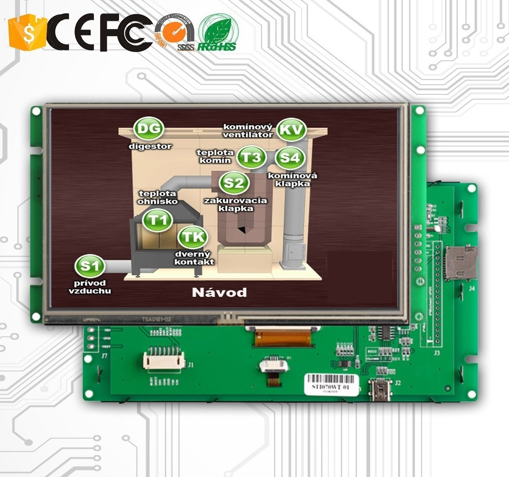 Industrial Control Application 10.1 Inch LCD Monitor Touch With RS232 Interface