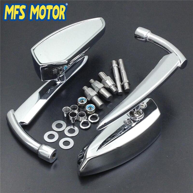 Универсальные зеркала заднего вида для мотоцикла Suzuki intresia Boulevard All Cruiser хромированные, с резьбой 8 мм 10 мм