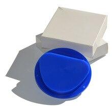 Dental Lab Material 5 Pieces/lot Amann Girrbach System 89*71*25mm Blue & White CAD CAM Dental Carving Wax Blocks