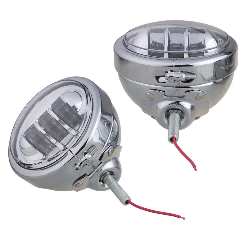 Foco LED auxiliar de niebla de 4-1/2 pulgadas y 4,5 pulgadas, lámpara de cruce con soporte de montaje de anillo de carcasa para montar la lámpara de niebla de Electra