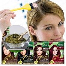Fashion Vatika High Quality Pure Natural Henna Hair Dye Temporary Hair Dye Women Shampoo Beard & Eyebrows Fast Dye Hair Care