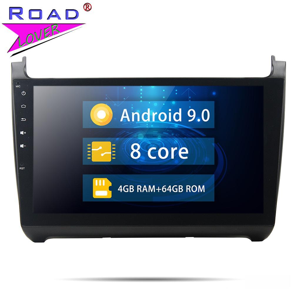 Rádio de carro Android Leitor Multimédia 9.0 Carro Para Volkswagen VW Polo 2015 2Din 10.1 Polegada Autoradio DVD Player Do Carro Estéreo unidade de cabeça