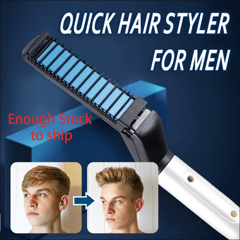 Peine multifuncional para rizar el cabello, rizador de cabello, gorra de exhibición, Peinador rápido para hombres, cepillo de pelo con calefacción eléctrica, peine para hacer cabello rápido