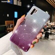 Huawei p30 lite의 경우 반짝이는 반짝이는 전화 케이스 capa on huawei p 30 lite p30 pro 럭셔리 소프트 실리콘 커버 fundas