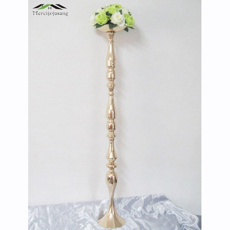 Oro candelabros soporte florero candelabro camino plomo candelabros Centro piezas decoración de la boda 50 cm/73 cm/ 120 cm 01308
