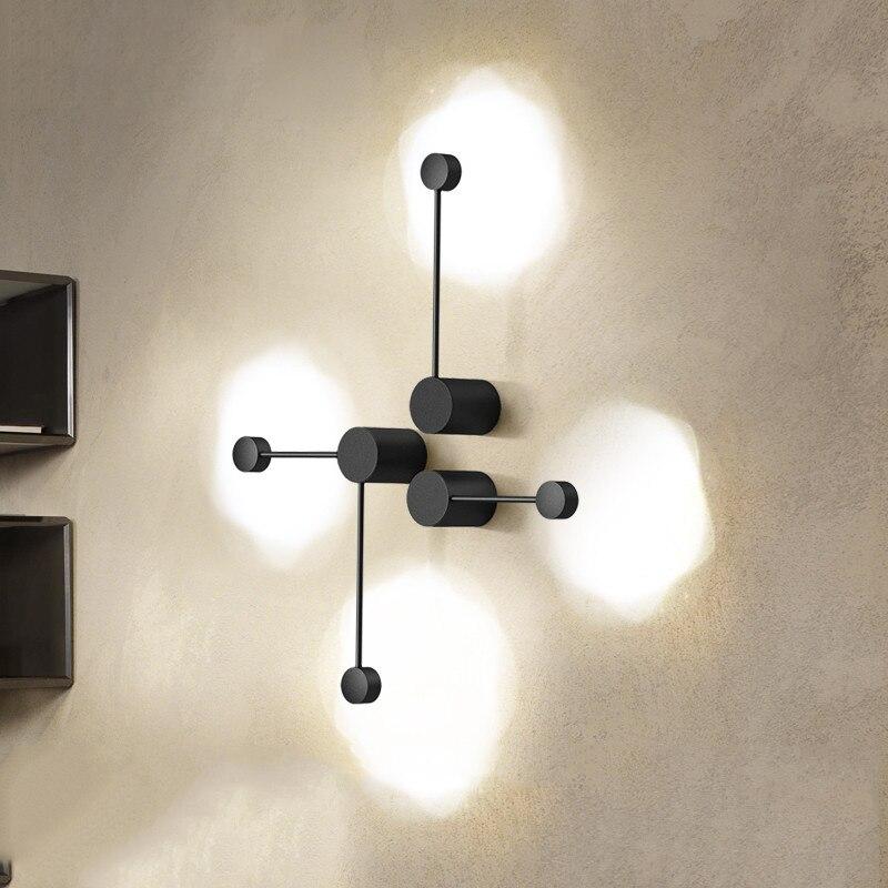 Nordic Eisen DIY LED Wand Lighst Weiß/schwarz Wand Lampe Wohnzimmer TV Wand Zimmer Leuchten Leuchte Applique wandlampen