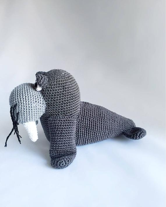 Juguetes de ganchillo walrus modelo número w14