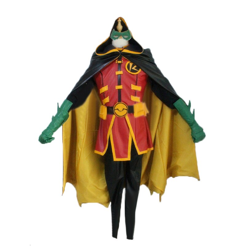 Batman DC Comics Young Justice CosplayRed Robin Tim Drake Damian Timmy Halloween Uniform Cosplay Costume Custom Made Any Size