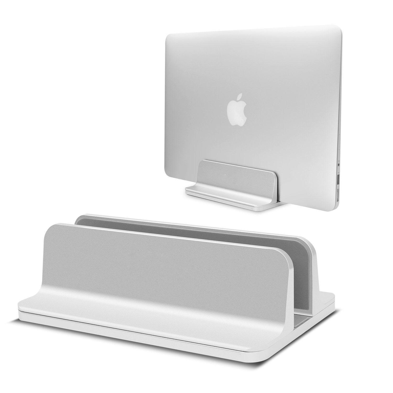 Suporte do portátil vertical de alumínio para macbook ar pro 13 ajustável desktop portátil notebook suporte suportes para macbook ar