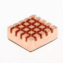 8 pièces/ensemble cuivre dissipateur de chaleur adhésif dos radiateur refroidisseur pour VGA GPU DDR DDR2 DDR3 RAM mémoire IC jeu de puces de refroidissement 13*12*4mm