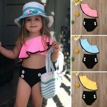 Estate Del Bambino Dei Capretti Del Bambino Delle Ragazze del Costume Da Bagno Costumi Da Bagno di Nuoto del Bikini Costume Da Bagno del Vestito Sveglio di Modo di 2019 di Alta Qualità di Vendita Calda