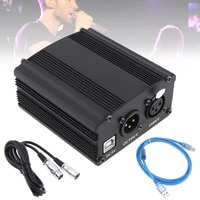 usb 48v 1 channel phantom power supply with one xlr audio cable for condenser microphone studio music recording equipment