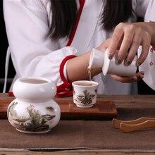 christmas christmas Jingdezhen Japanese style ceramic wine warmer wine pot household wine pot hot wine sake yellow rice wine set