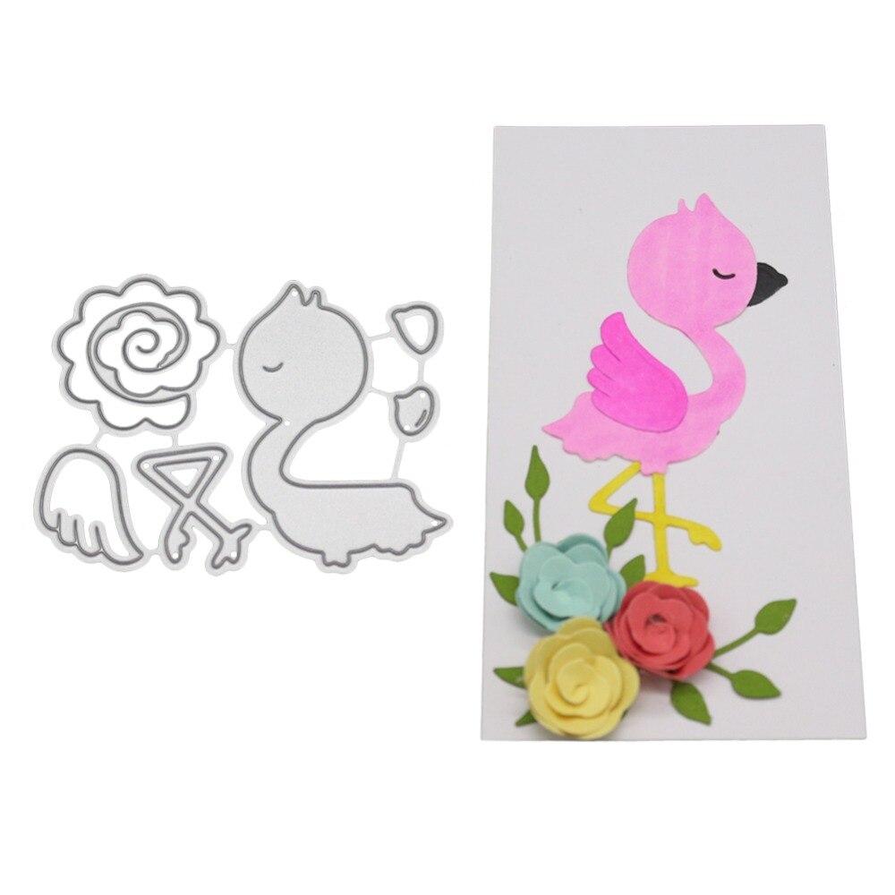 Troqueles de corte de Metal de pollo de flores para DIY Scrapbooking confección de álbumes o tarjetas Stencil Embossing sellos transparentes y Dies Sets 2019
