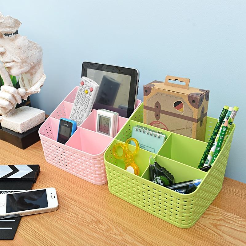 Vida Simple escritorio artículos diversos lápiz organizador cesta de almacenamiento contenedor retro cesta de almacenamiento caja de plástico caja de almacenamiento