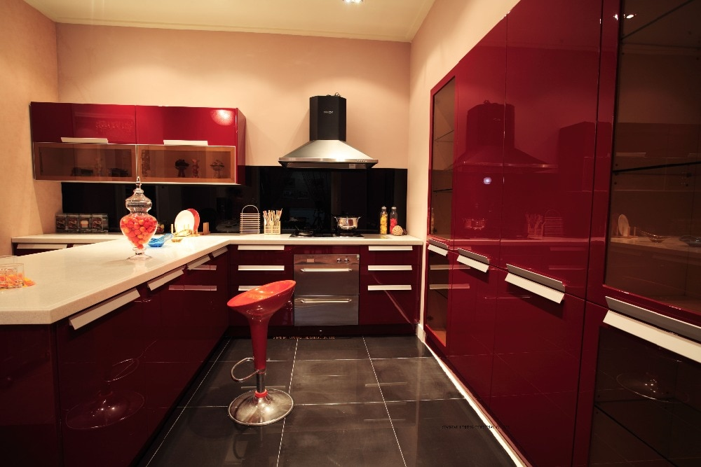 Lack küchenschrank (LH-LA008)