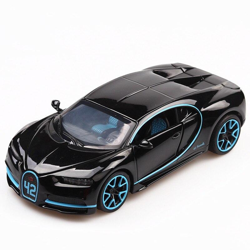 1:32 Diecast Car Model Metal Sports Car Alloy Car Simulation Racing Model Sound Light Door Pull Back Car Boy Toy For Kids Gift недорого