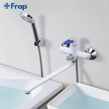Frap robinet mélangeur mural deau froide et chaude   Robinet de bain de Style moderne, robinet de poignée multicolore choix de couvercle 35cm de Long F2234