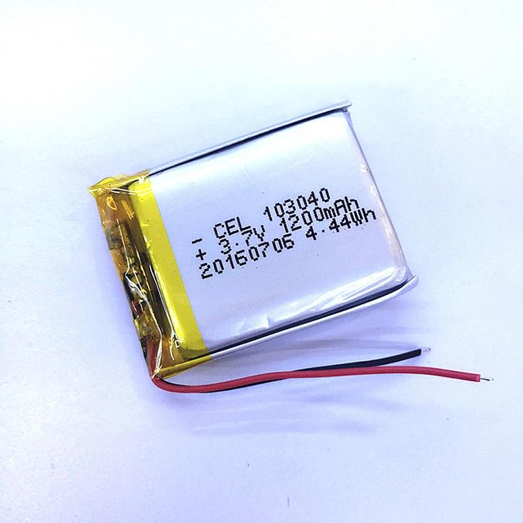 Dinto 1pc 103040 Lithium li-po baterías 1200mAh 3,7 V li-polímero batería para MP4 MP5 GPS PSP PAD Bluetooth altavoz de juguete