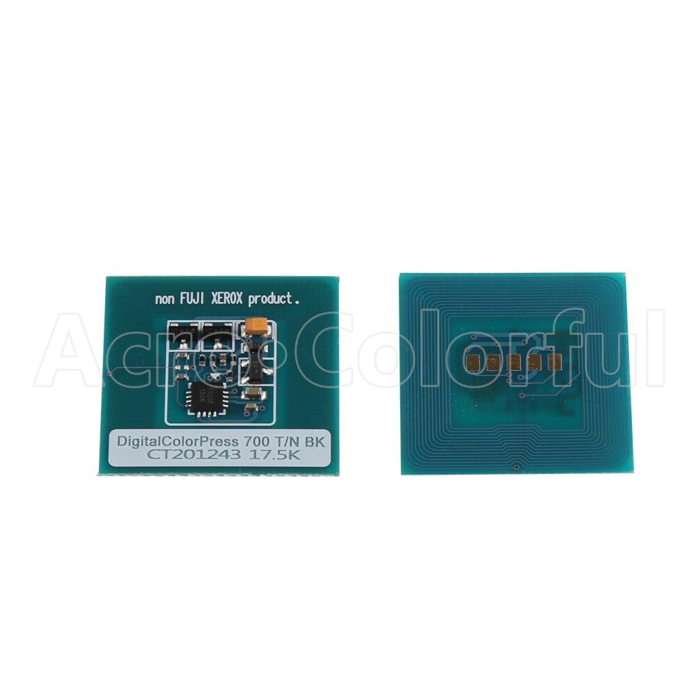 CT201243 CT201244 CT201245 CT201246 إعادة رقاقة لزيروكس اللون الرقمية الصحافة 700 طابعة ناسخة الحبر خرطوشة 17.5K
