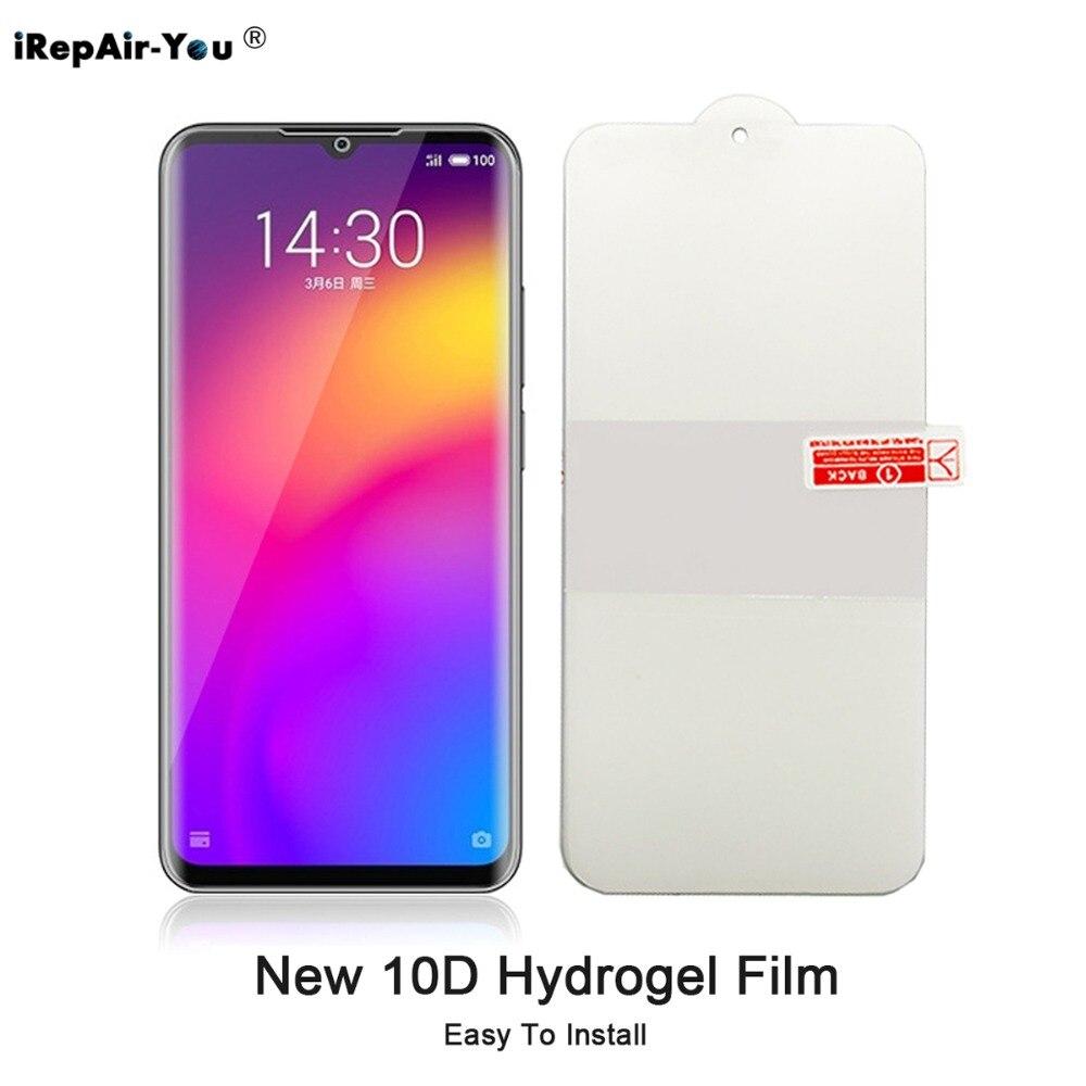 Nueva película de hidrogel 10D para MEIZU 17 16T 16s pro 16XS 16 15 Plus 16th 16X Pro 7 Note 9 parte frontal trasera suave TPU película de pantalla completa