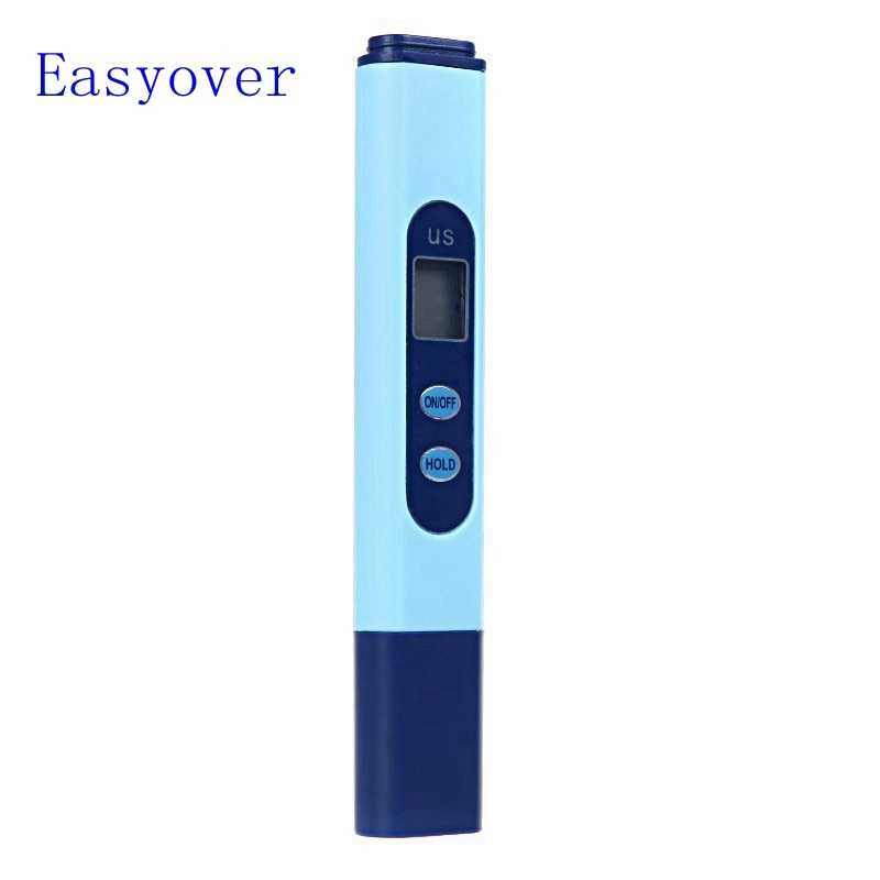 Digitale Hydrokultur Ec-messgerät 0-9990us/cm Tragbare LCD Aquarium Pool SPA Labor Wasserqualität-reinheit Meter
