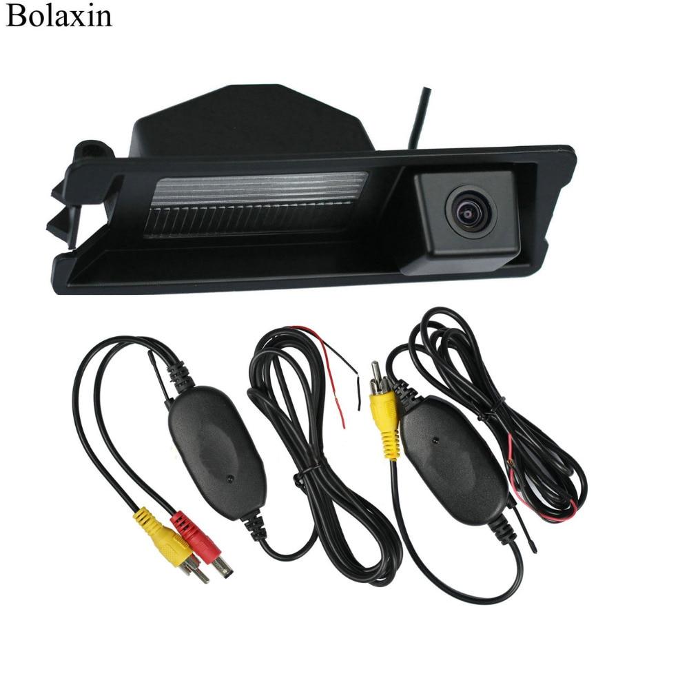 Accesorios para automóviles Bolaxin, cámara de visión trasera inversa inalámbrica CCD de 2,4G para Nissan March Micra Renault Logan Sandero