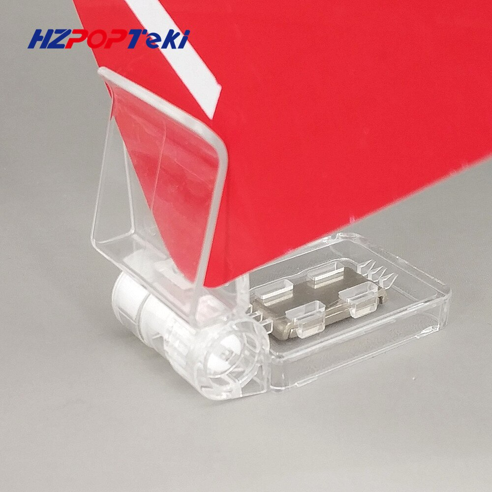 Clear POP Plastic PC Magnet Sign Paper Card Display Price Label Tag Promotion Clips Holders In Supermarket Retails 2000pcs