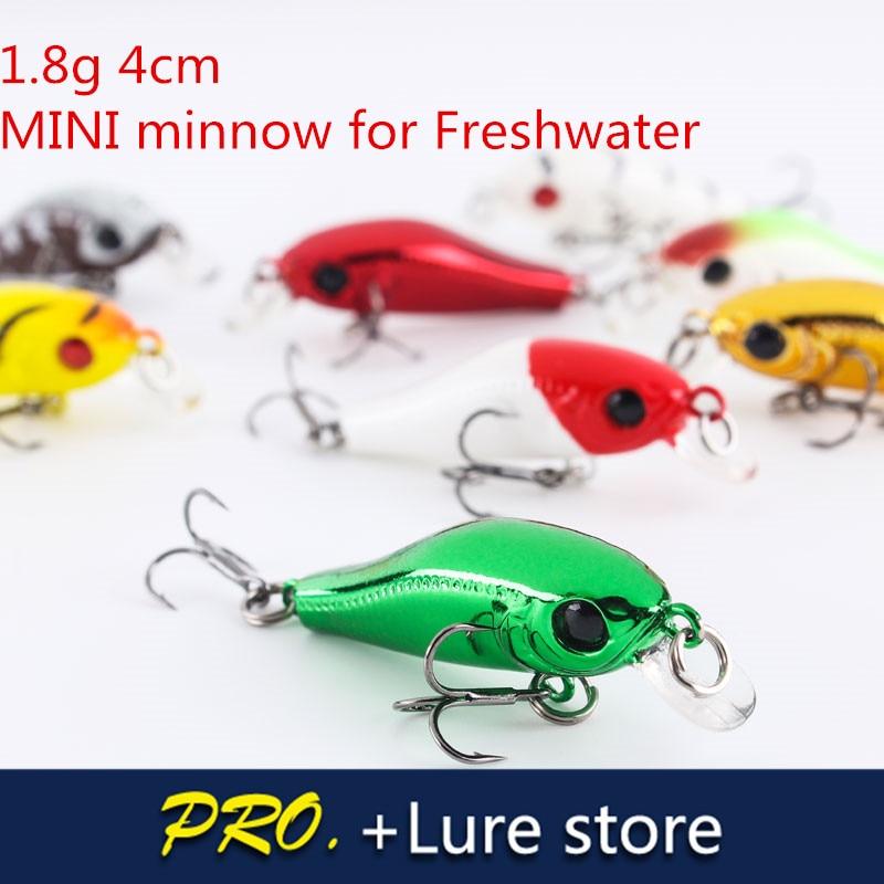 5pcs 4cm 1.8g Zap minnow MINI flaoting lure baits, fishing tackle carp freshwater fishing lure tackle ,wobbler Upper level fish