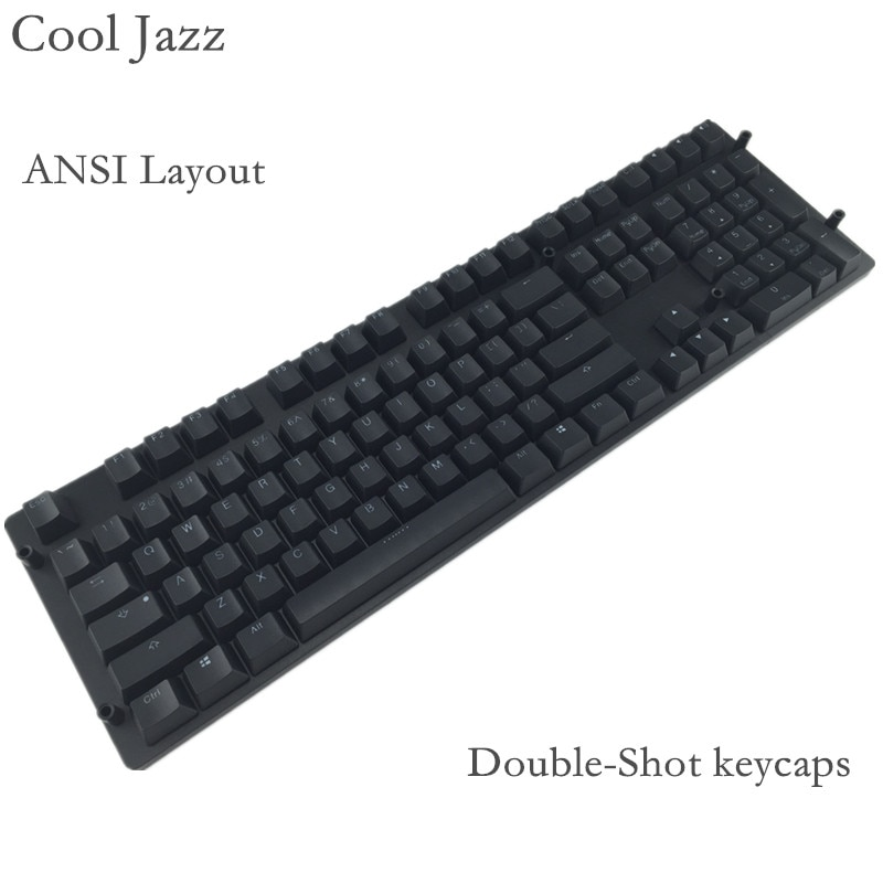 Cool Jazz 108 key pbt keycap Cherry mx Mechanical Keyboard Double-shot backlit  keycaps For MX Mechanical gaming Keyboard akko 3084 v2 ocean star 84 key mechanical game keyboard pbt keycap usb 2 0 type c wired side letter caverd design gaming keyboard pink shaft