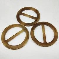 fashion inner diameter 4 5 cm adjustable buckled ribbon buttoned garment corner storage buckles t shirt clasp