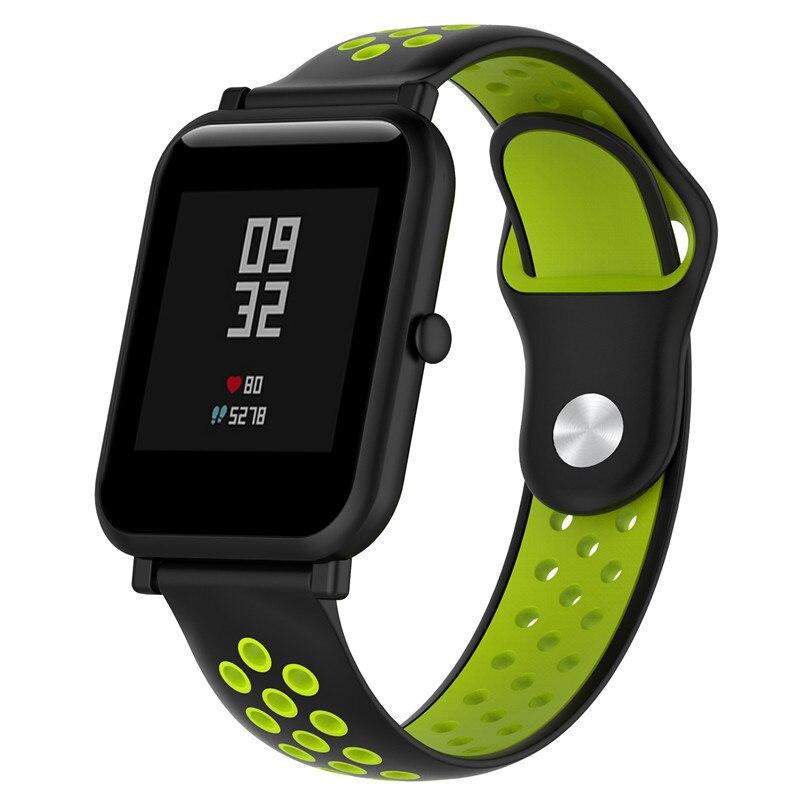 Banda Universal de silicona de 18/20/22MM para Samsung Gear/Amazfit/Huawei watch/Weloop/Withings pulsera inteligente de acero